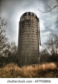 Low angle view of a silo