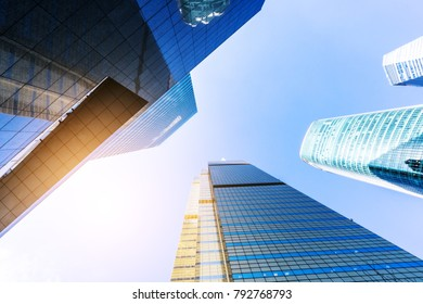 low angle view of skyscrape in shanghai China