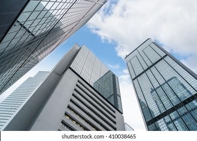 low angle view of skyscraper,hongkong china.