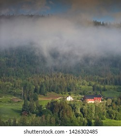 Low clouds over Oppland in Norway