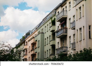 low colored row houses at germany