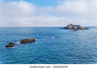 A low, dark mist begins to move around the ancient Fort National and its small island clost to the town of St Malo.