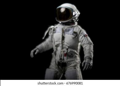 Low depth of field astronaut, moody lighting
