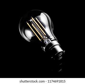Low Energy Light Bulb on a dark background