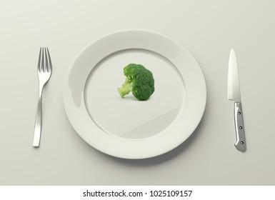 Low fat healthy salad,3d illustration
