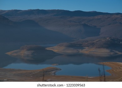 low flow of water in lake