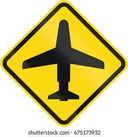 Low Flying Airplanes warning sign used in Brazil.