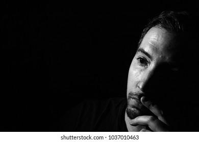 Low Key Self portrait