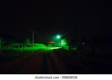 Low light countryside scene