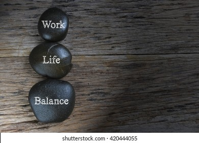 Low light of Work-Life Balance concept.