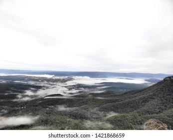 Low mist in Blue Mountains - Katoomba, Australia