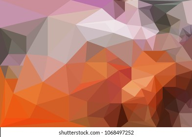 Low polygon abstract art