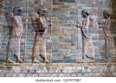 Low relief depicting ancient warriors