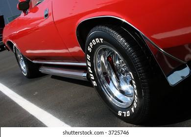 Low Shot of a Classic Car