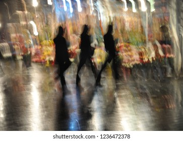 Low Speed, Blurred Silhouettes Istanbul Turkey