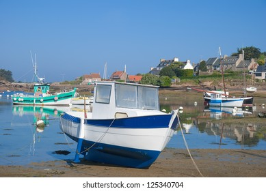 Low Tide in the Harbor of Ploumanach,Brittany,France