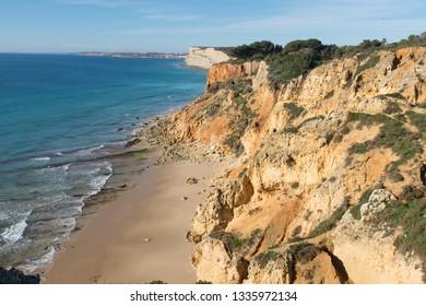 Low tide in Lagos, Algarve, Portugal