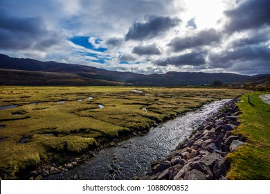 Low Tide at Little Loch Broom, a sea-loch with salt marsh rich with wildlife, in the northern highlands of Scotland.