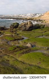 Low tide in Praia da Luz (Lagos, Algarve, Portugal)