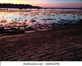 Low tide sunset view from East Cowes