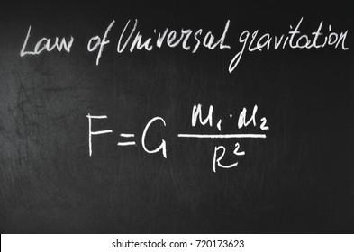 Low of Universal gravitation formula.