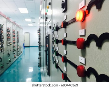 Low voltage switch gear substation in industrial plant , image for industrial and safety business concept