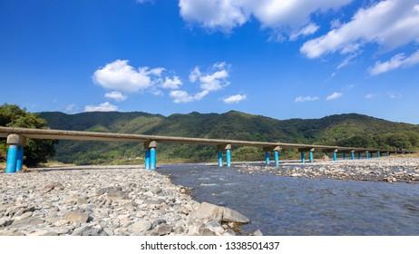 Low Water Crossing, Shimanto River, Kochi  Prefecture, Japan