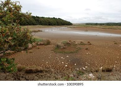 Low water levels in water reservoir, Isle of Wight
