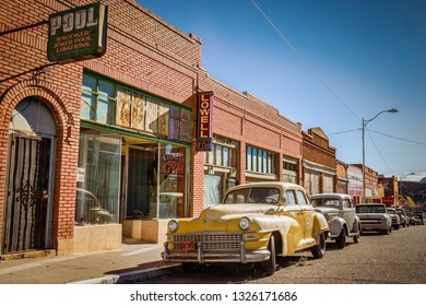Lowell, Arizona / United States – November 25, 2018: A 1948 Chrysler Crown Imperial Limousine taxicab sits parked at Erie Street.
