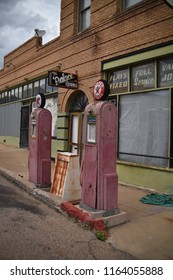 Lowell, AZ., U.S.A. August 17, 2018.  Founded in 1880, Lowell is now part of Bisbee, Arizona.  Most of the homes vanished as the Lavender Open Pit Mine expanded.  Today, Erie street is vintage 1950s