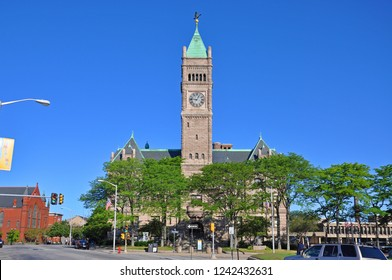 Lowell City Hall in downtown Lowell, Massachusetts, USA.