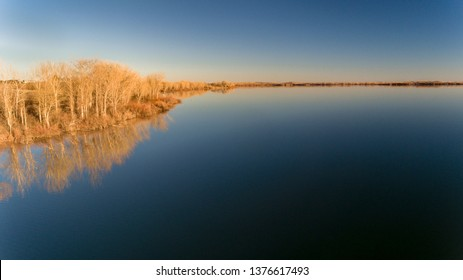 lower angle view of a large body of water