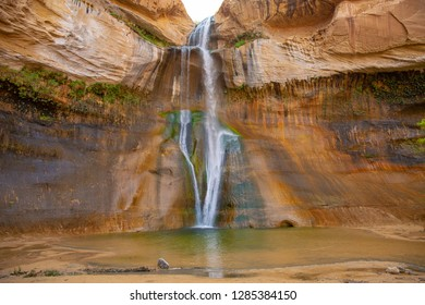 Lower Calf Creek Falls in Grand Staircase-Escalante National Monument, Utah, USA