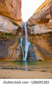 Lower Calf Creek Falls in Grand Staircase-Escalante National Monument, Utah, USA