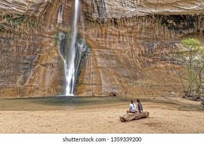 Lower Calf Creek Falls is a  waterfall in the Grand Staircase-Escalante National Monument in Utah that is 126-foot (38 m) high.