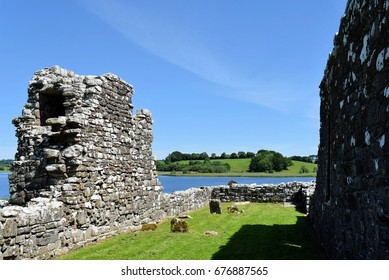 Lower Church (Teampull Mor) and Graveyard, Devenish Island, Lower Lough Erne, County Fermanagh, Northern Ireland