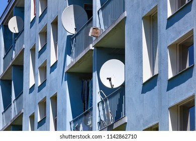 Lower class apartments in Capelle aan den IJssel a suburb of Rotterdam in the Netherlands