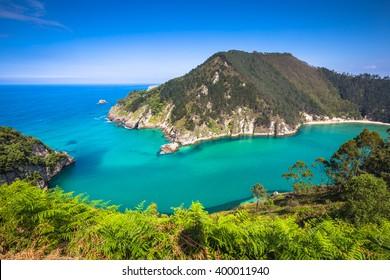 Lower Estuary from the Mirador Tina Minor. Municipality of Val de San Vicente, Cantabria.