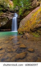 The Lower Falls in Hocking Hills State Park in Ohio
