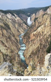Lower falls in Yellowstone National park in Wyoming