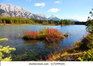 Lower Kananaskis lake landscape in Alberta Canada