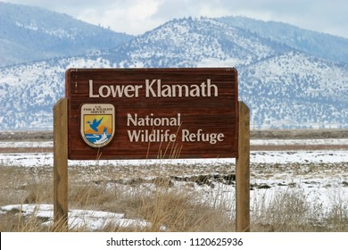 Lower Klamath National Wildlife Refuge Entrance, California, USA