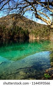 Lower lake of Fusine, Tarvisio, Friuli, Italy, 04/21/2018
