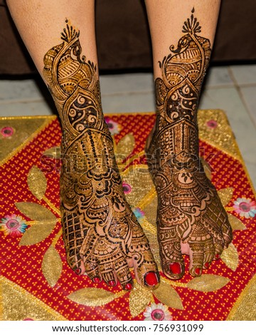 Lower Legs Feet Indian Bride Resting Stock Photo Edit Now