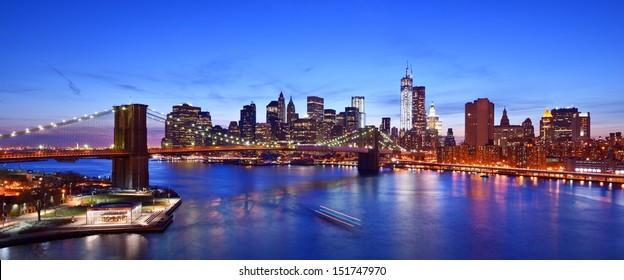 """Lower Manhattan from above the East River in New York City. """"ATTN REVIEWER: See an Admin about this batch (re:case #00453115)"""