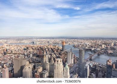 Lower Manhattan - Aerial Shot