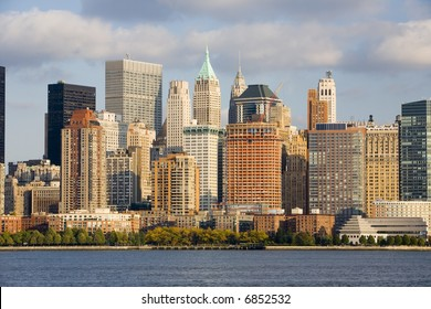 Lower Manhattan and the Hudson River