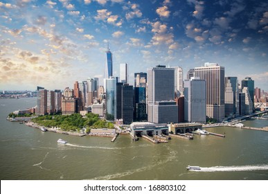 Lower Manhattan as seen from Helicopter.