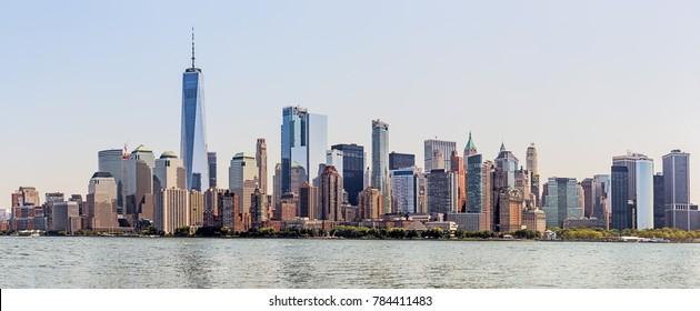 Lower Manhattan Skyline, NYC, USA