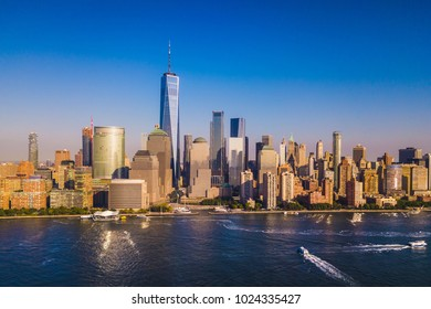 Lower Manhattan Skyline with a view of the Freedom Tower, New York City, United States